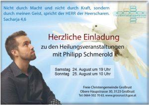 Heilungsveranstaltungen mit Philipp Schmerold @ FCG Großrust
